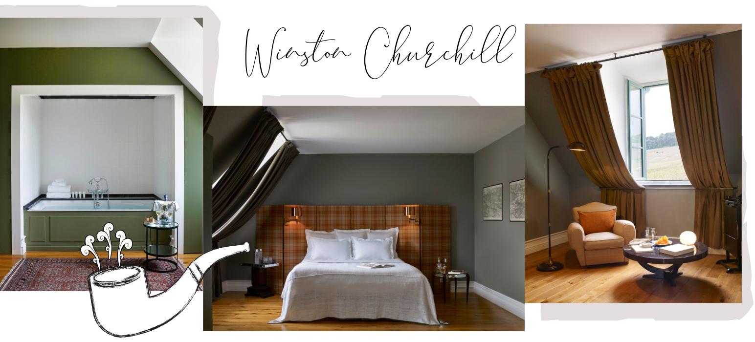 Chambre Winston Churchill au Chateau de Sacy