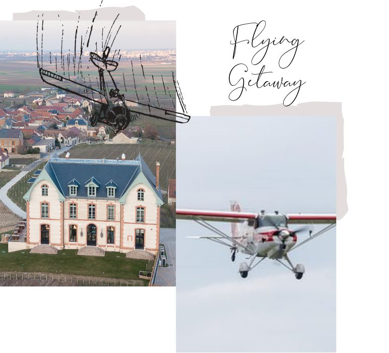 flying getaway in reims